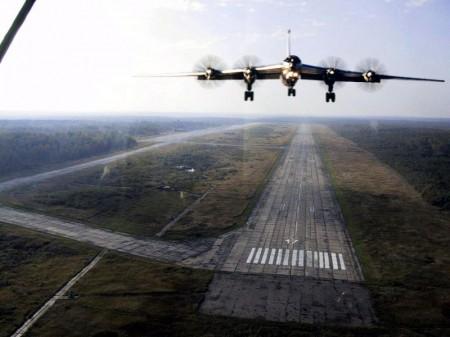 Ту-95  - посадка