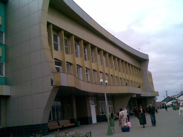 Современный вокзал...