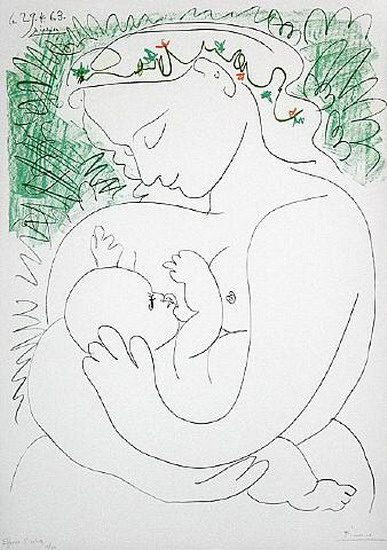 "Пабло Пикассо ""Материнство"" 1963 г www.pablo-ruiz-picasso.ru"