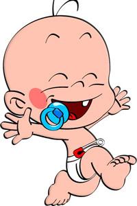 Аватар вконтакте Младенец с пустышкой в подгузнике (© StepUp),