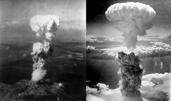 Автор: Nagasakibomb.jpg: The picture was taken by Charles Levy from one of the B-29 Superfortresses used in the attack.Atomic_cloud_over_Hiroshima.jpg: Personel aboard Necessary Evilderivative work: Binksternet (talk) - Nagasakibomb.jpgAtomic_cloud_over_Hiroshima.jpg, CC BY-SA 3.0, https://commons.wikimedia.org/w/index.php?curid=12204929